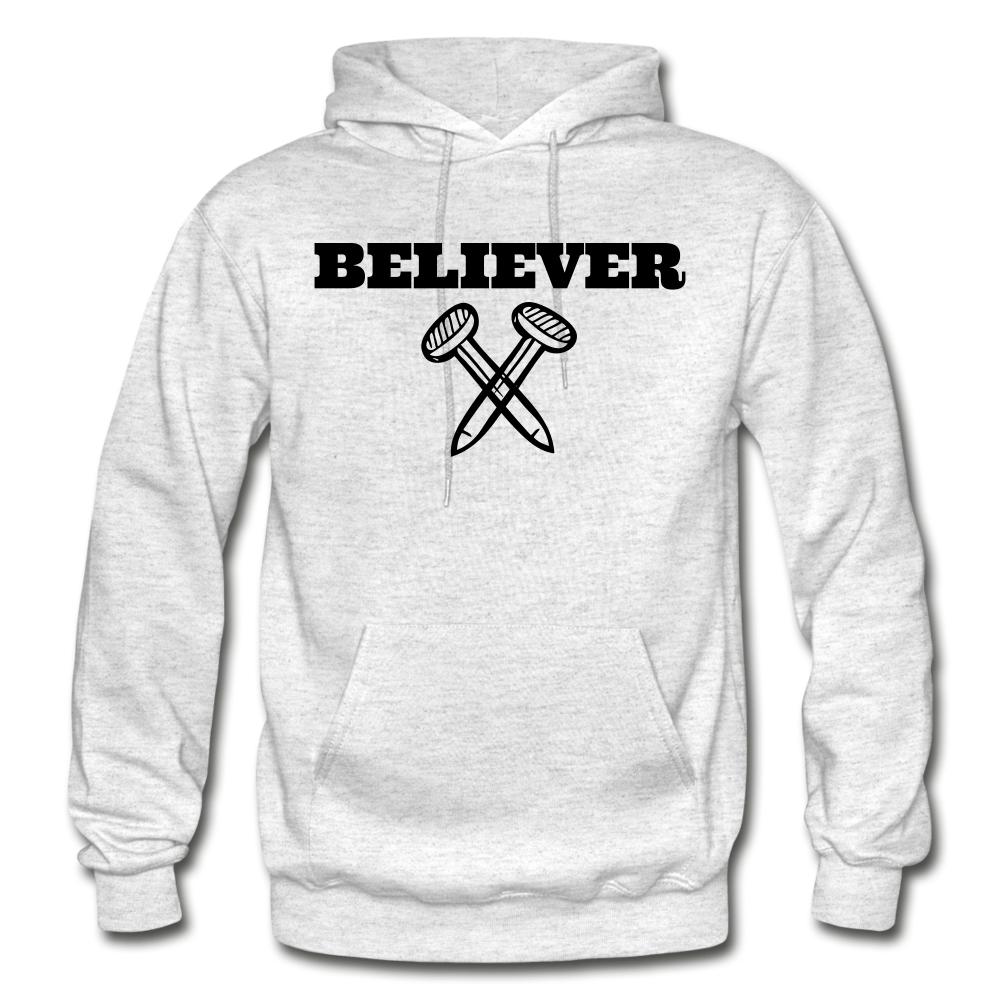 Believer Hoodie - light heather gray