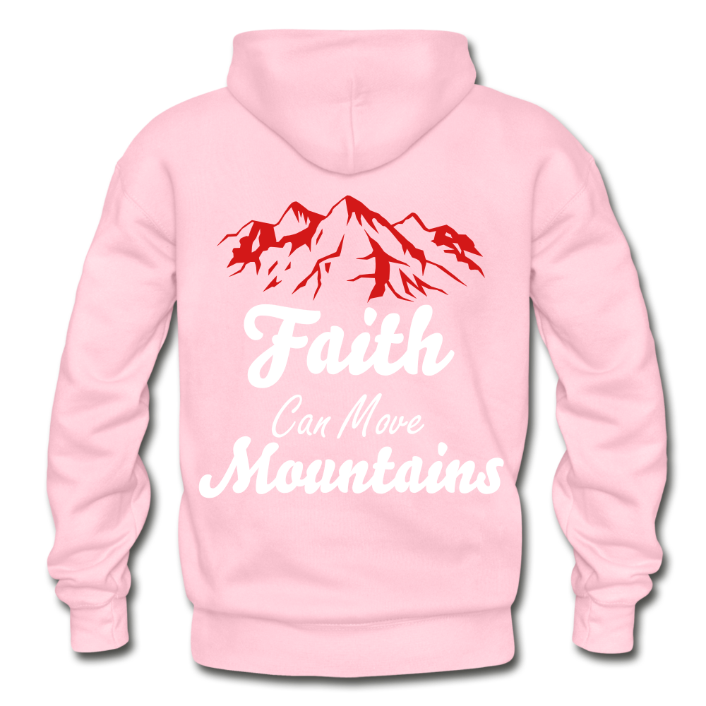 Faith Can Move Mountains. - light pink