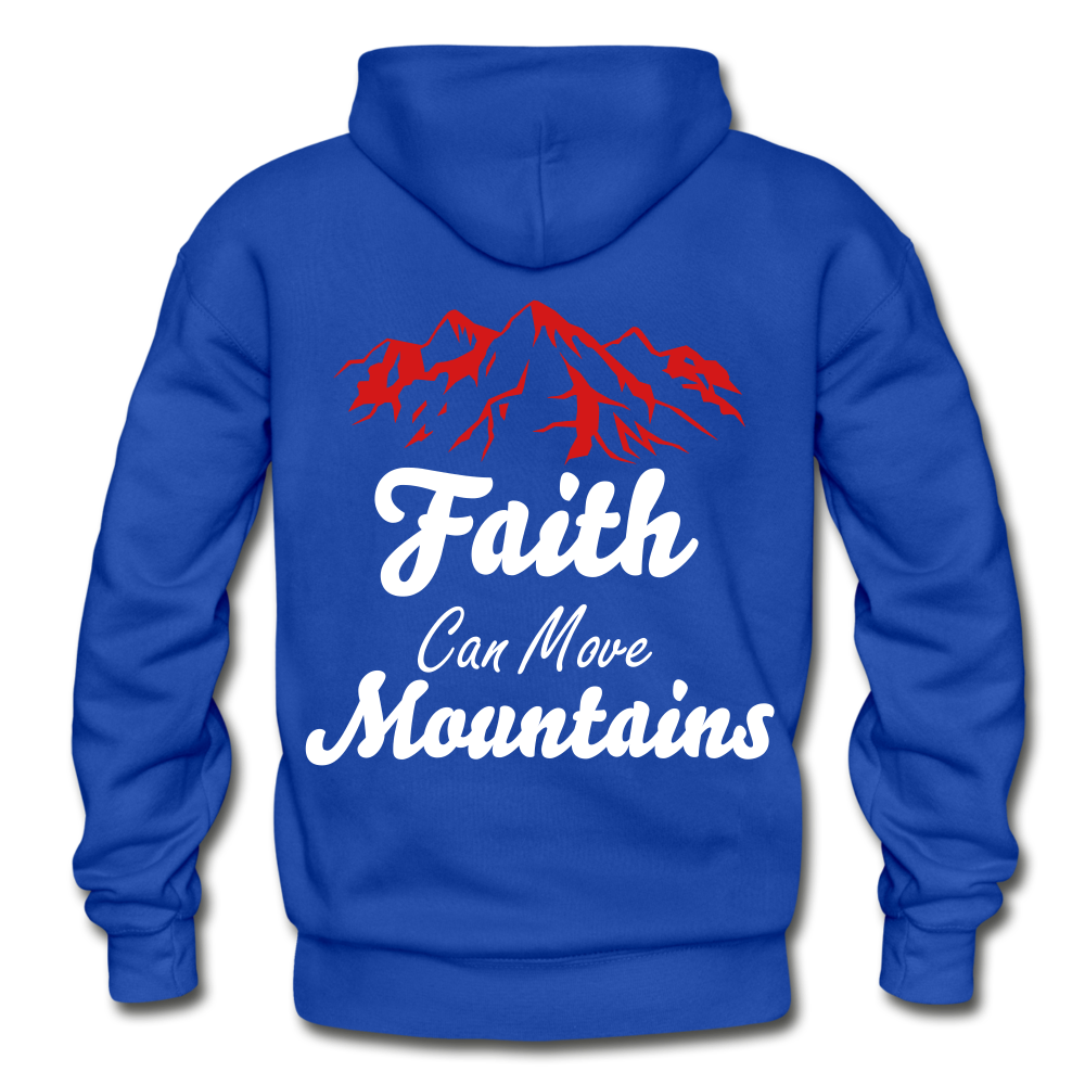 Faith Can Move Mountains. - royal blue