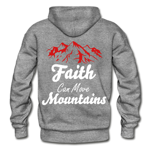 Faith Can Move Mountains. - graphite heather