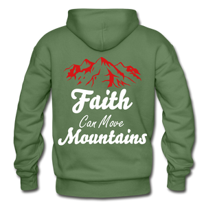 Faith Can Move Mountains. - military green