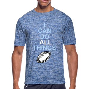 I Can Do All Things Football - heather blue