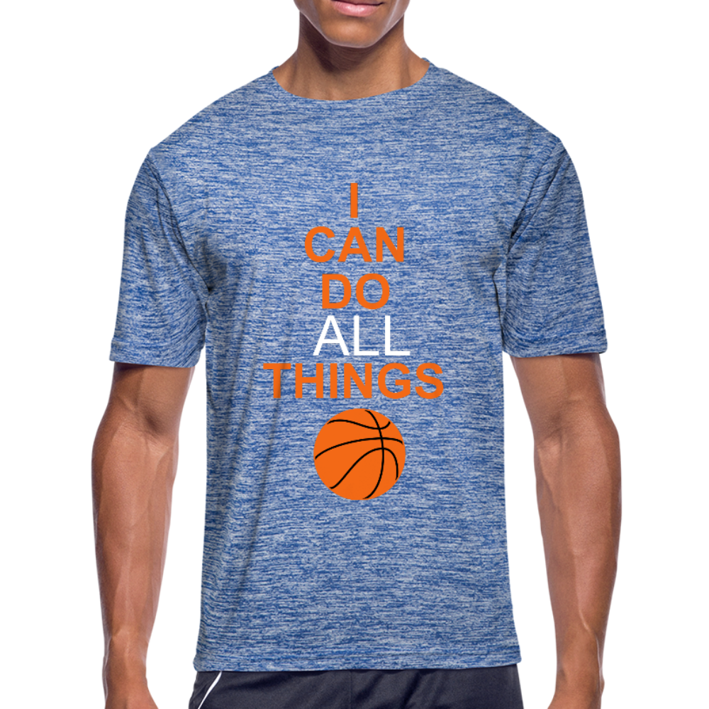 I Can Do All Things Bball - heather blue