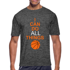 I Can Do All Things Bball - dark heather gray
