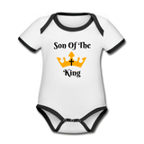 Son Of The King Organic Onsie - white/black