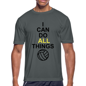 I Can Do All Things Volley Ball - charcoal