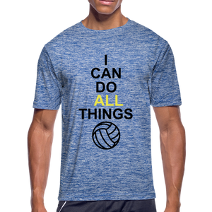 I Can Do All Things Volley Ball - heather blue