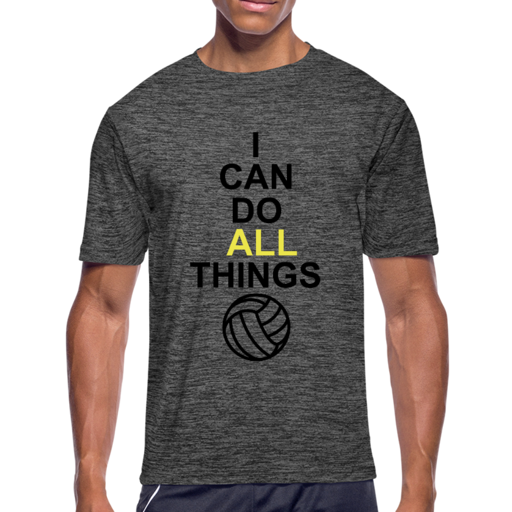 I Can Do All Things Volley Ball - dark heather gray