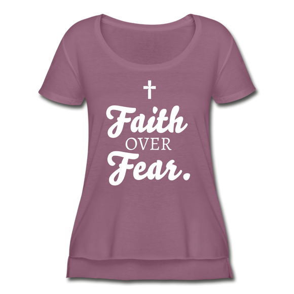 Faith Over Fear Shirt. - grape