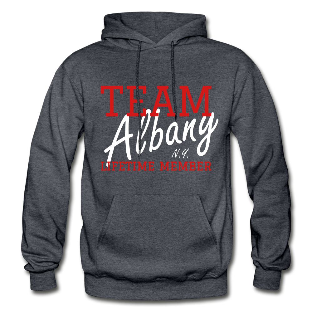 Team Albany Hoodie - charcoal gray