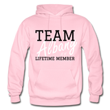 Team Albany Hoodie. - light pink