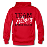 Team Albany Hoodie. - red