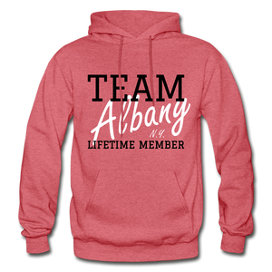 Team Albany Hoodie. - heather red