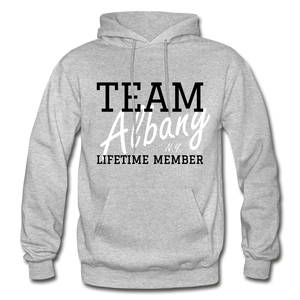 Team Albany Hoodie. - heather gray