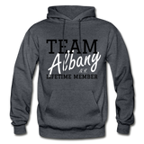 Team Albany Hoodie. - charcoal gray