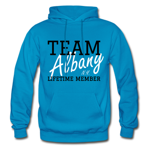 Team Albany Hoodie. - turquoise
