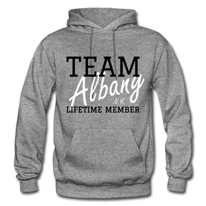 Team Albany Hoodie. - graphite heather