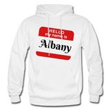 My Name Is Albany. - white