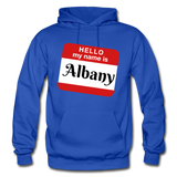 My Name Is Albany. - royal blue