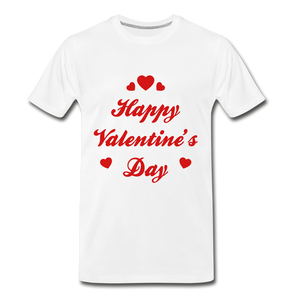 Happy Valentines day Tee - white