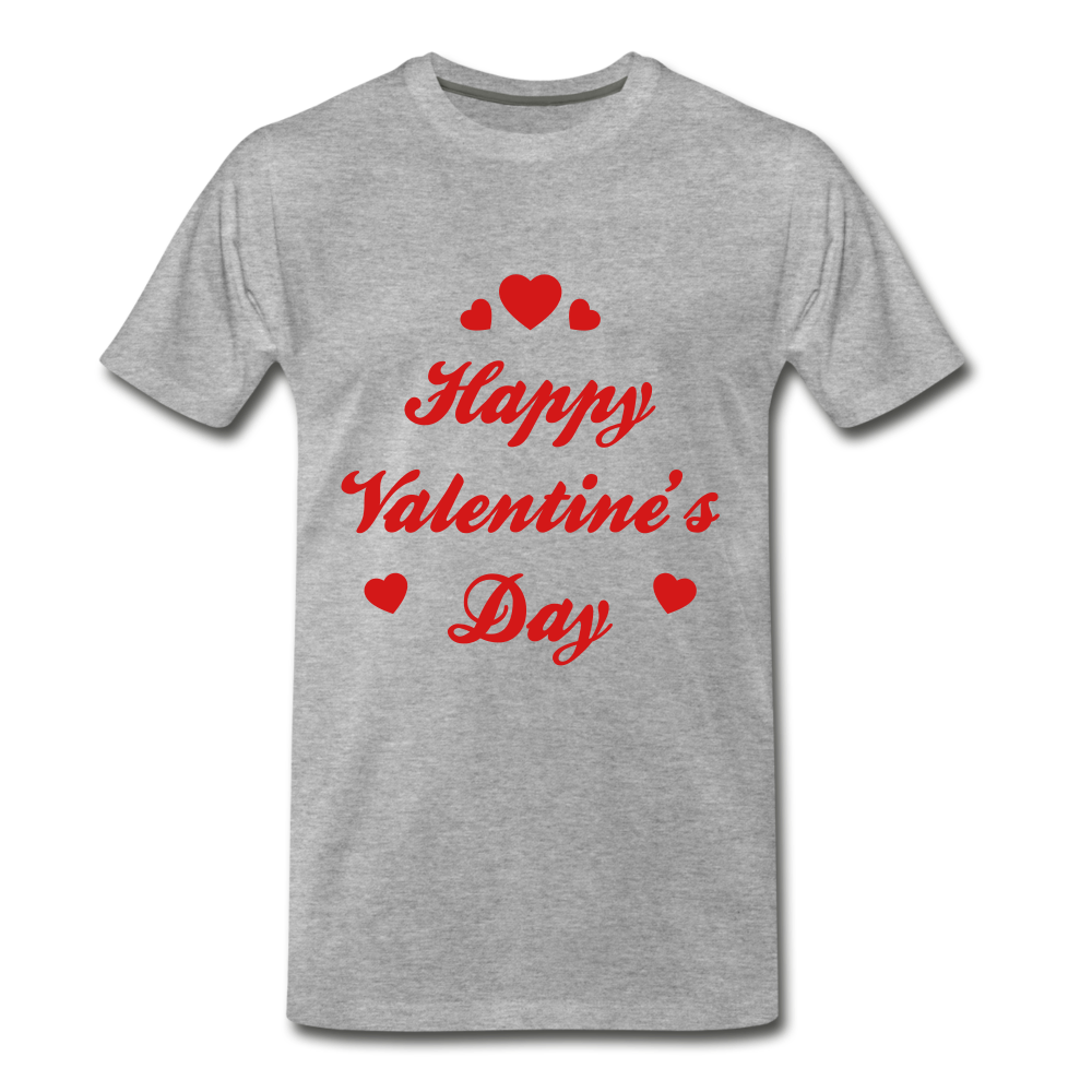 Happy Valentines day Tee - heather gray