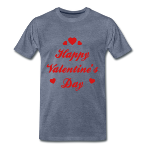 Happy Valentines day Tee - heather blue