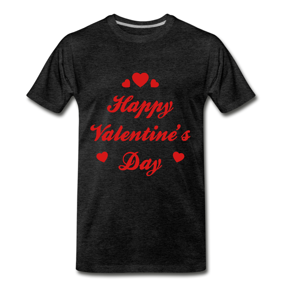 Happy Valentines day Tee - charcoal gray