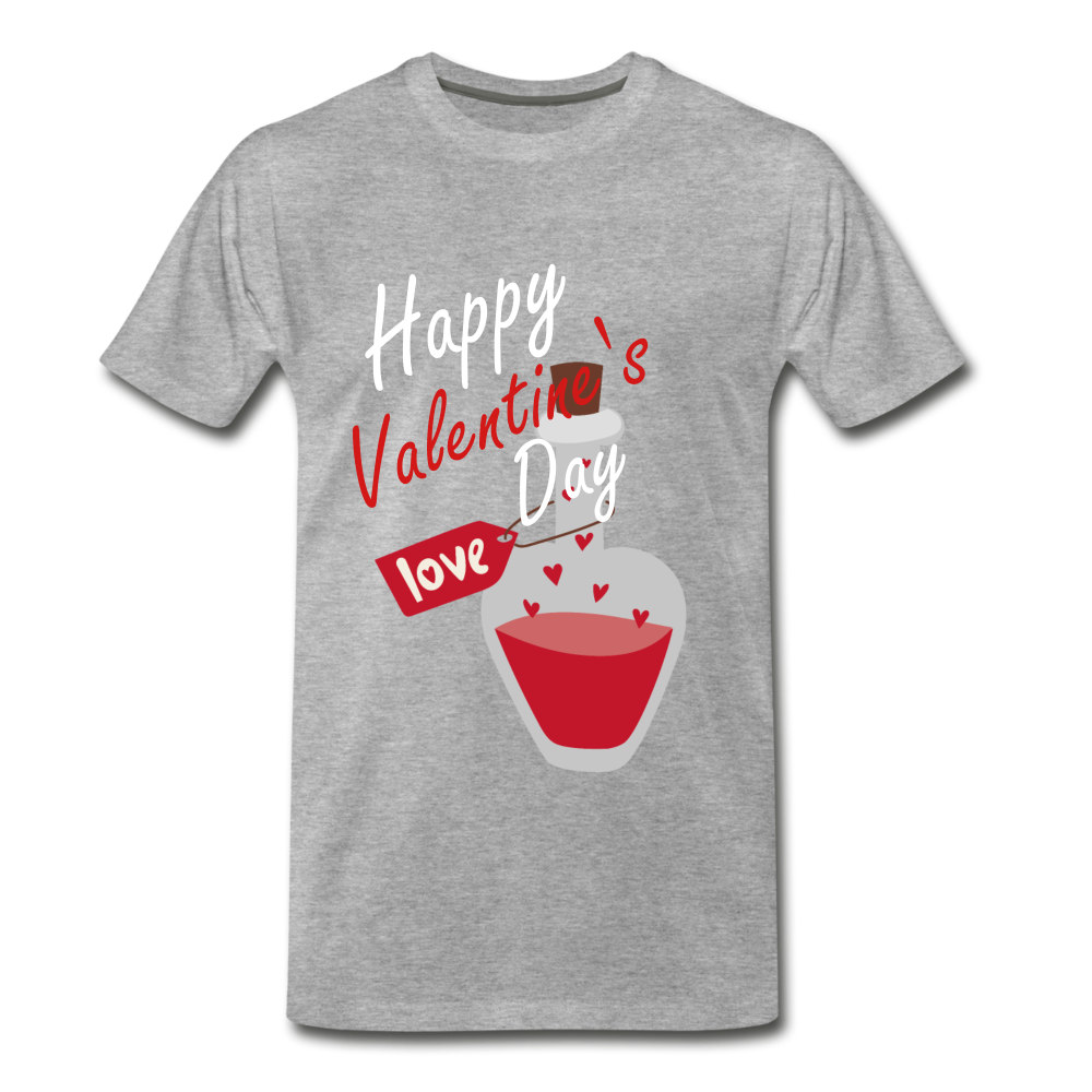 Happy Valentines Day Love Potion Tee - heather gray