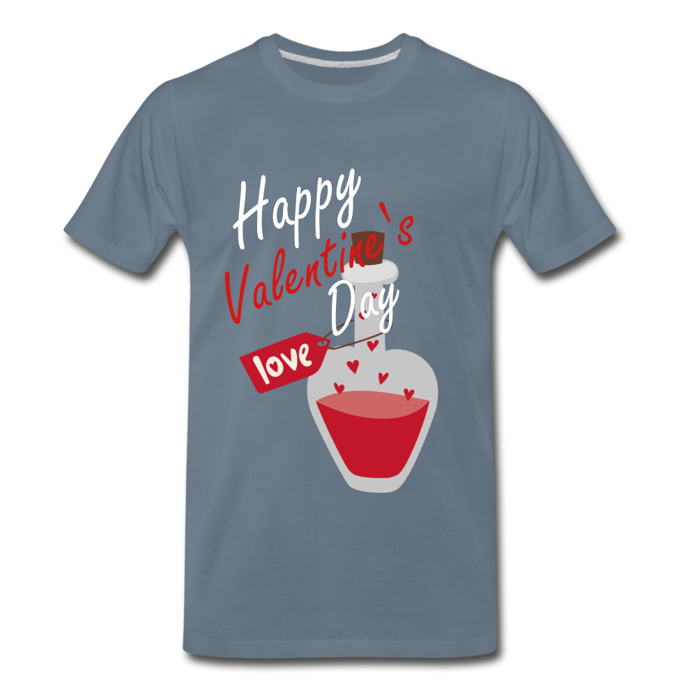 Happy Valentines Day Love Potion Tee - steel blue