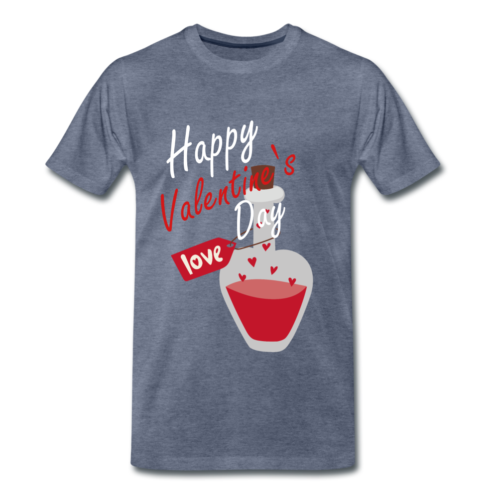 Happy Valentines Day Love Potion Tee - heather blue