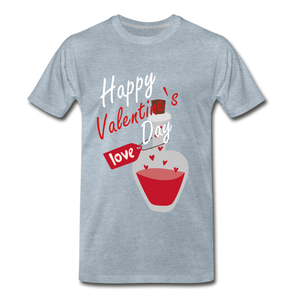 Happy Valentines Day Love Potion Tee - heather ice blue