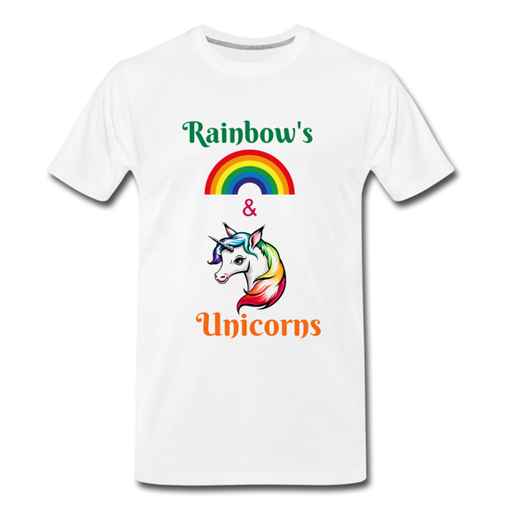 Rainbow's & Unicorns Tee - white