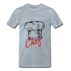 Chef Hat Tee - heather ice blue