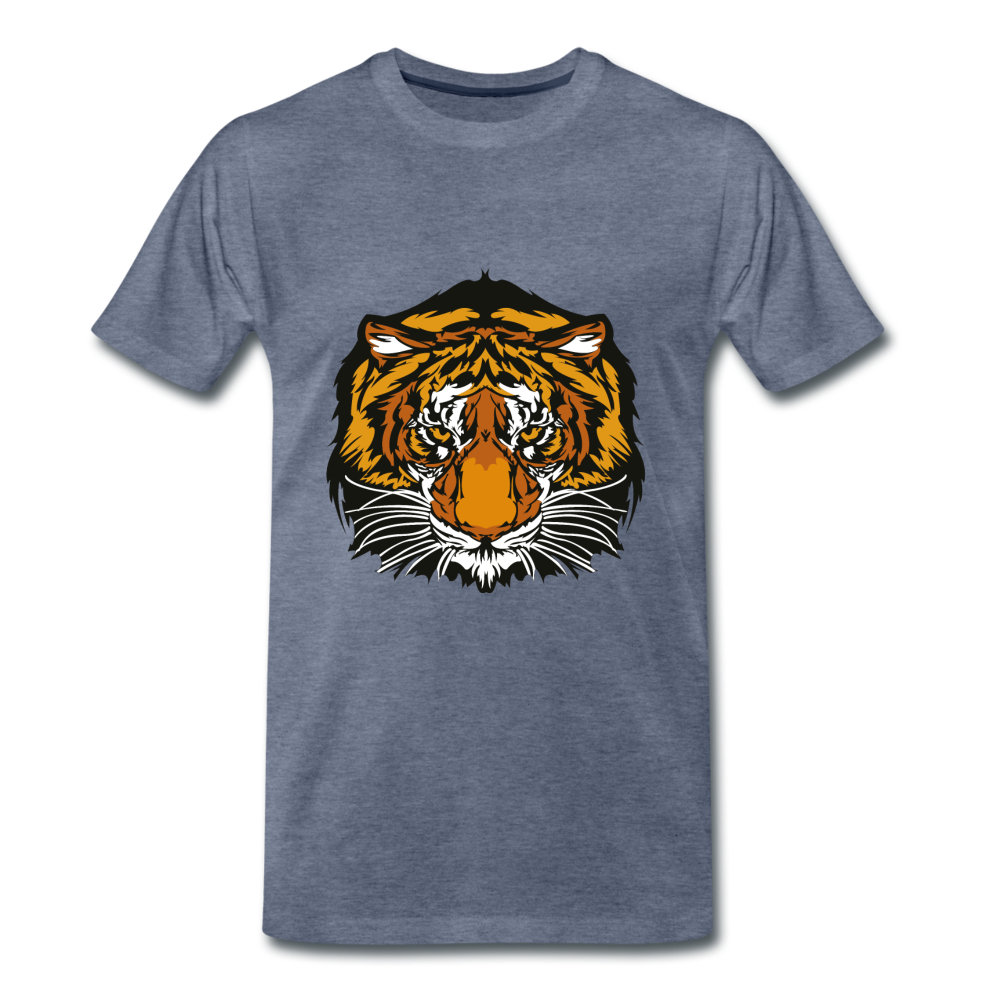 Tiger Tee - heather blue