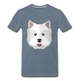 Pup Tee - steel blue