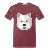 Pup Tee - heather burgundy