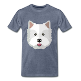 Pup Tee - heather blue