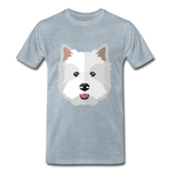 Pup Tee - heather ice blue