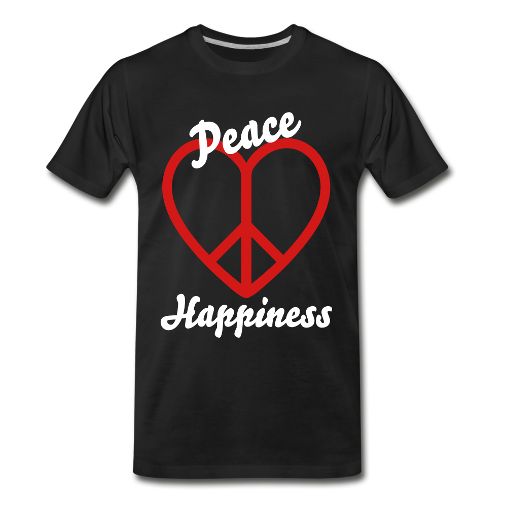 Peace, Love, Happiness Tee - black