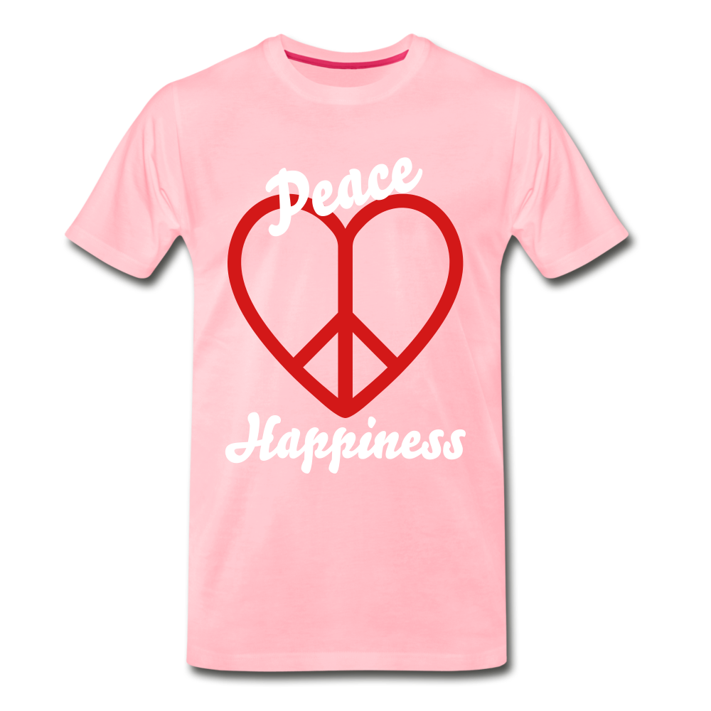 Peace, Love, Happiness Tee - pink