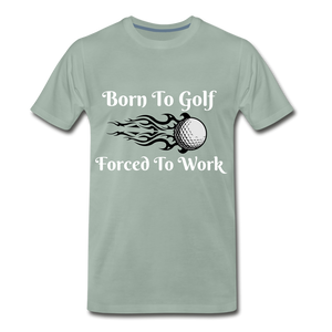 Born To Golf - steel green