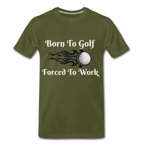 Born To Golf - olive green
