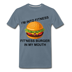 FITNESS TEE - steel blue