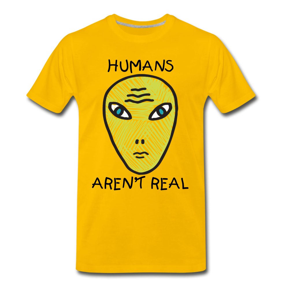 Humans Aren't Real - sun yellow