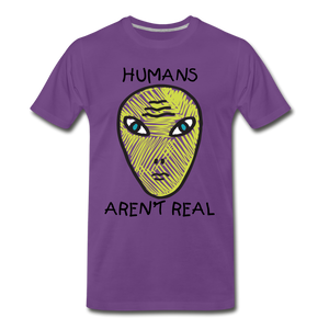 Humans Aren't Real - purple