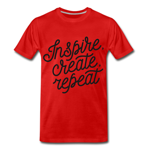 Inspire, Create, Repeat - red