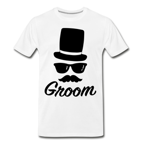 Groom Tee - white