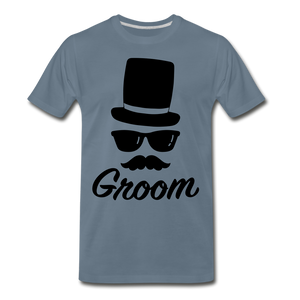 Groom Tee - steel blue