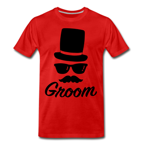 Groom Tee - red