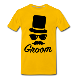 Groom Tee - sun yellow